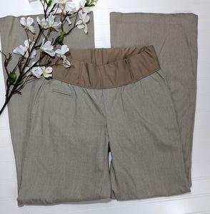 Gap Maternity Khaki Flared pants Low Belly Panel